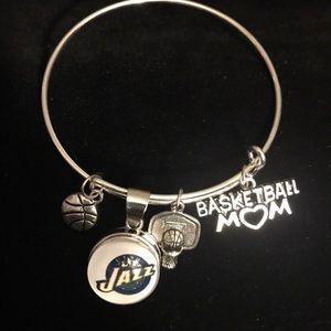 Jewelry - NBA Utah Jazz Basketball Mom charm Bracelet